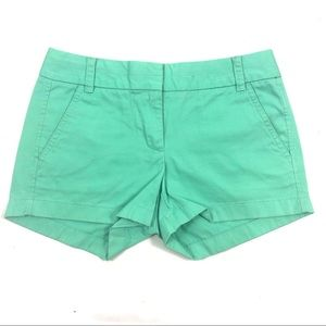 J. Crew broken in chino shorts green teal 0